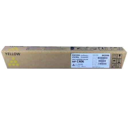 Картридж Ricoh MP C406 для Ricoh MP C306ZSPMP C306ZSPFMP C406ZSPF желтый 842098 compatible alzenit for ricoh mp 1813 2013 1913 2001 2501 oem new imaging drum unit black color on sale