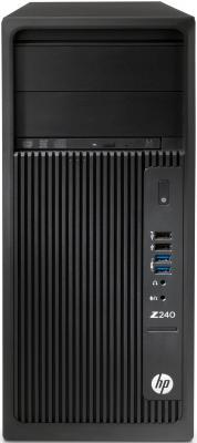 Системный блок HP Z240 1270v6 3.8GHz 16Gb 1Tb DVD-RW Win7Pro Win10Pro черный 1WV07EA рабочая станция hp z240 y3y80ea черный