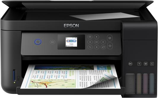 МФУ Фабрика печати EPSON L4160 цветное A4 33/15ppm 5760x1440dpi Wi-Fi C11CG23403 мфу фабрика печати epson l3050 цветное a4 33 15ppm 2400x1200dpi usb wi fi c11cf46405