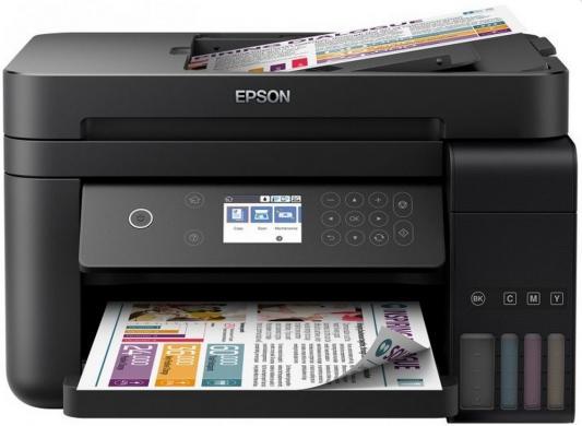 МФУ Фабрика печати EPSON L6170 цветное A4 33/20ppm 4800x1200dpi Ethernet Wi-Fi C11CG20404 мфу фабрика печати epson m205 монохромный a4 34ppm 1440x720dpi usb c11cd07401