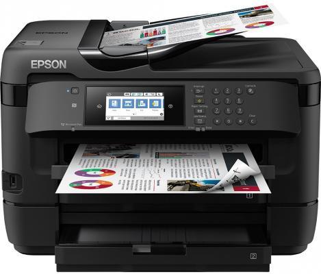 МФУ EPSON WorkForce WF-7720DTWF цветной A3 4800x2400dpi Wi-Fi USB C11CG37412 цена и фото