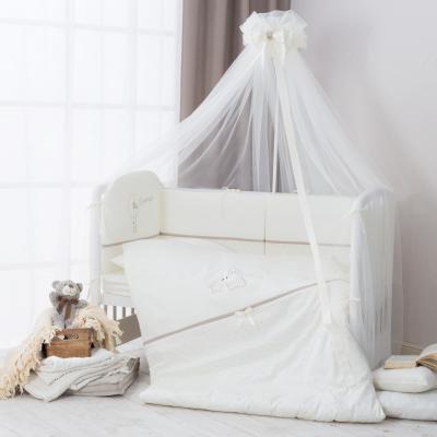 Купить Сменное постельное белье 3 предмета Перина Le Petit Bebe (молочно-кофейный), молочный, 105 х 170 см