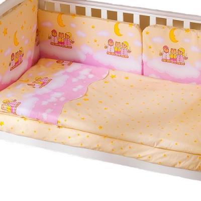Сменное постельное белье 3 предмета Перина Аманда Ночка (розовая)