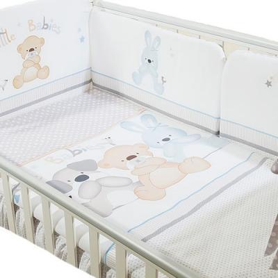 Сменное постельное белье 3 предмета Перина Венеция Три друга Белый
