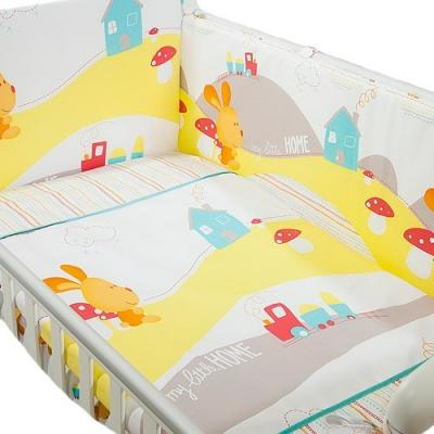 Сменное постельное белье 3 предмета Перина Кроха Веселый кролик (белый) bryston bit 4