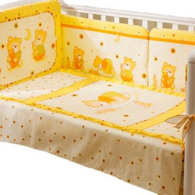 Сменное постельное белье 3 предмета Перина Ника Мишка на подушке (бежевый) постельное белье ups pups мишка 100% хлопок 3 предмета