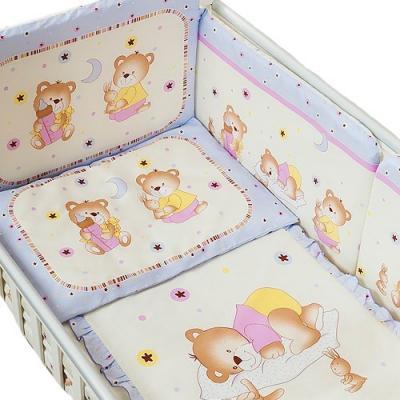 Сменное постельное белье 3 предмета Перина Ника Мишка на подушке (лиловый) постельное белье forest bow wow 3 предмета