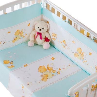 Сменное постельное белье 3 предмета Перина Фея Лето (голубое) постельный сет 4 предмета перина фея лето розовый