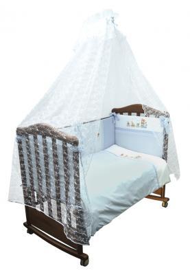 Постельный сет 7 предметов Сонный гномик Паровозик (голубой) сонный гномик постельное белье золушка 7 пред сонный гномик розовый