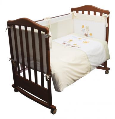 Сменное постельное белье 3 предмета Сонный гномик Пикник (молочный)