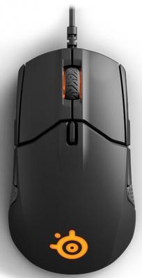 Мышь проводная Steelseries Sensei 310 чёрный USB race core steelseries kinzu v3 игровая мышь проводная мышь белый