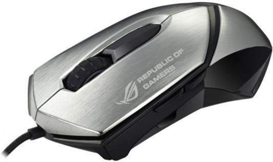 Мышь проводная ASUS 90-XB3B00MU00040 серебристый чёрный USB мышь проводная asus ut300 черная usb