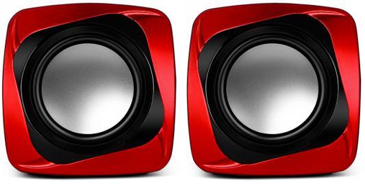 Колонки Sven 140 2х2.5 Вт черный/красный