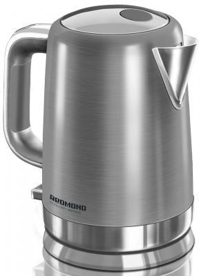 Чайник Redmond RK-M1263 2200 Вт серебристый 1.6 л нержавеющая сталь чайник redmond rk g154 2200 вт чёрный 1 7 л стекло