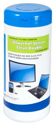 Чистящие салфетки Silwerhof 671208 100 шт чистящие салфетки silwerhof notebook clean 100 шт 671203