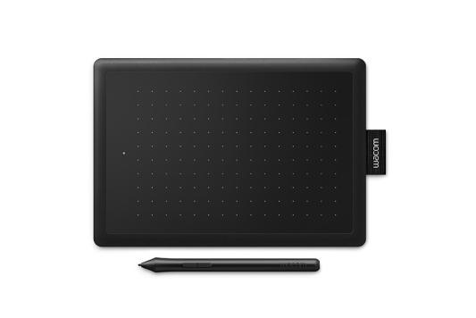 Графический планшет Wacom One CTL-472 USB черный/красный