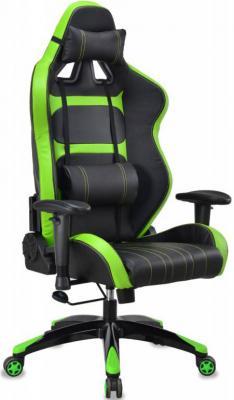 Кресло компьютерное игровое Бюрократ CH-772/BLACK+SD черный/салатовый