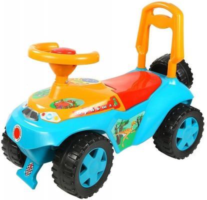Каталка-машинка R-Toys Ориоша 6695 голубой от 10 месяцев пластик все цены