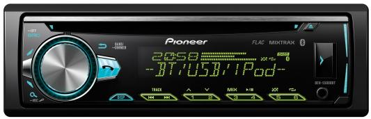 Автомагнитола Pioneer DEH-S5000BT-K USB MP3 CD FM RDS 1DIN 4x50Вт черный