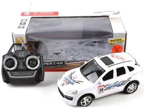 Машинка на радиоуправлении Shantou Gepai Super Car, 4 канала пластик от 3 лет белый 66-W8