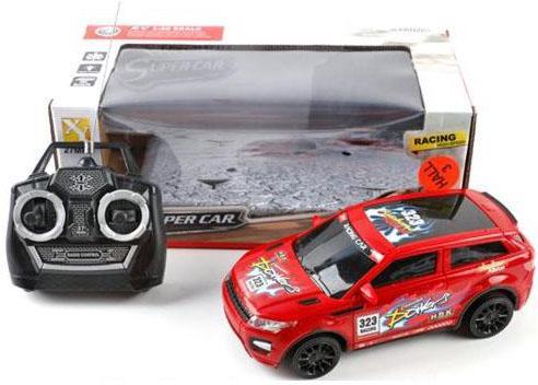 Машинка на радиоуправлении Shantou Gepai Super Car, 4 канала пластик от 3 лет красный 66-W7