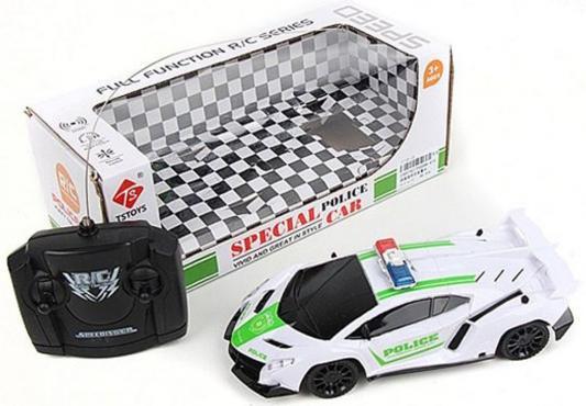 """Машинка на радиоуправлении Shantou Gepai """"Полиция"""" пластик, металл от 3 лет белый 4 канала, свет"""