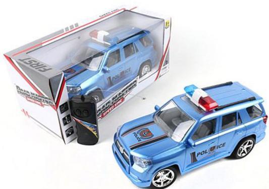 Машинка на радиоуправлении Shantou Gepai First - Полиция пластик от 3 лет голубой 2 канала