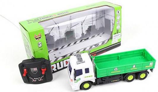 """Машинка на радиоуправлении Shantou Gepai """"Грузовик"""" с крановой установкой пластик от 6 лет зелёный 4 канала, свет, Радиоуправляемые игрушки  - купить со скидкой"""