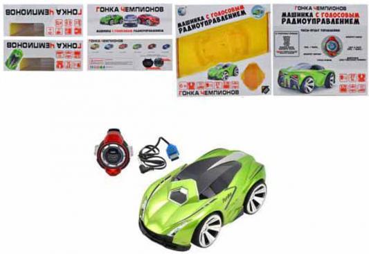 """Машинка на радиоуправлении Shantou Gepai """"Гонка чемпионов"""" - Sport Car пластик, металл от 6 лет зелёный свет, звук, голосовое управление стоимость"""