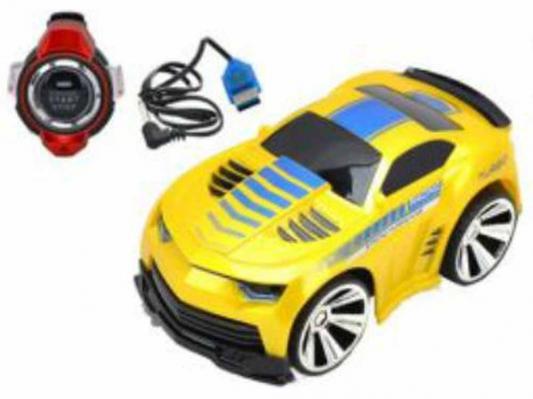 Машинка на радиоуправлении Shantou Gepai Гонка чемпионов пластик от 6 лет желтый свет, звук, голосовое управление
