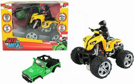 Квадроцикл на радиоуправлении Shantou Gepai Авто Мото пластик от 6 лет желтый M7113-3 moto m vpervye pokazalsia na snimkah