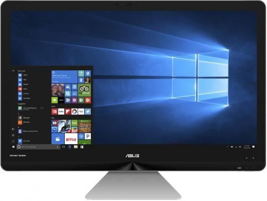 Моноблок 27 ASUS Zen AiO ZN270IEGK-RA015T 1920 x 1080 Intel Core i5-7400T 4Gb 1Tb nVidia GeForce GT 940МХ 2048 Мб Windows 10 Home серый черный 90PT01R1-M00490 моноблок asus zen aio zn240icgk rc016x