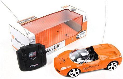 Машинка на радиоуправлении Shantou Gepai Famous Car пластик от 3 лет оранжевый 389-43