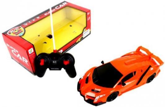 Машинка на радиоуправлении Shantou Gepai Super Car, 4 канала пластик от 6 лет оранжевый 567-A5