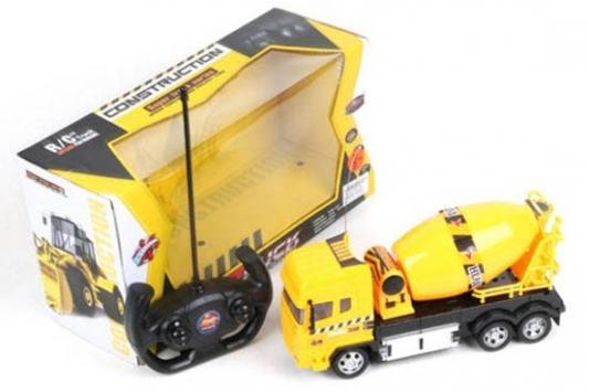 Машинка на радиоуправлении Shantou Gepai Бетономешалка пластик от 3 лет желтый 666-681 игрушка shantou gepai машина перевертыш 666 858