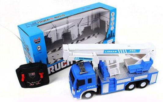 Купить Машинка на радиоуправлении Shantou Gepai Автовышка пластик, металл от 6 лет синий, Радиоуправляемые игрушки