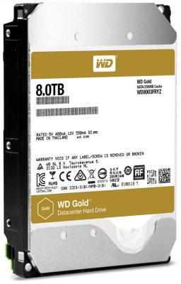 Жесткий диск 3.5 8 Tb 7200rpm 256Mb cache Western Digital Gold SATAIII WD8003FRYZ
