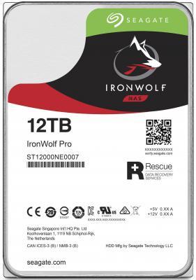 Жесткий диск 3.5 12 Tb 7200rpm 256Mb cache Seagate Ironwolf Pro SATAIII ST12000NE0007 накопитель на жестком магнитном диске seagate жесткий диск hdd 8tb seagate ironwolf st8000vn0022 3 5 sata 6gb s 256mb 7200rpm