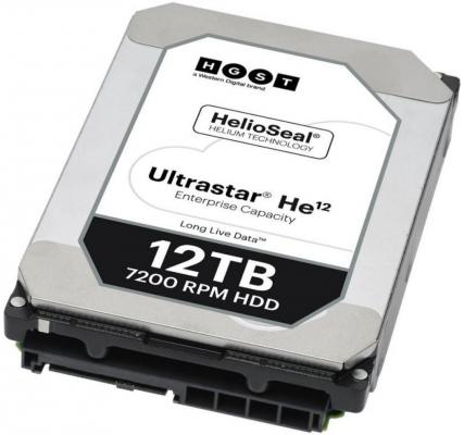 Жесткий диск 3.5 12Tb 7200rpm HGST Ultrastar HE12 SATAIII HUH721212ALE604 0F30146 жесткий диск 3 5 4tb 7200rpm hgst ultrastar 7k6000 sataiii hus726040ale614 0f23025