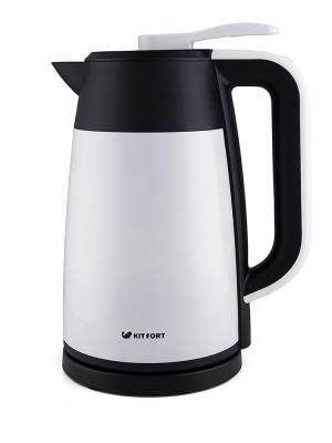 Чайник KITFORT KT-620-1 2200 Вт белый чёрный 1.7 л нержавеющая сталь