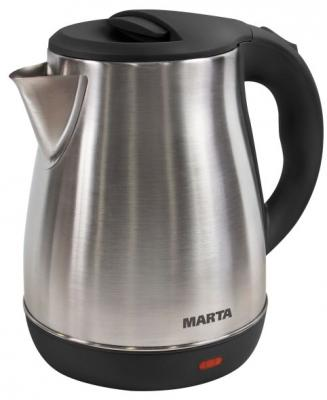 все цены на Чайник Marta MT-1091 1800 Вт черный жемчуг 2 л нержавеющая сталь онлайн