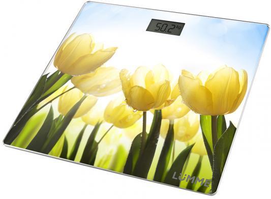 Весы напольные Lumme LU-1329 рисунок тюльпаны