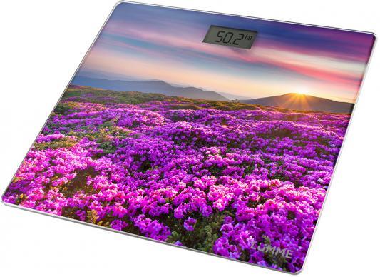 """Весы напольные Lumme """"Цветочное поле"""" рисунок LU-1328"""