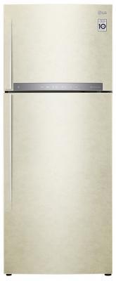 Холодильник LG GC-H502HEHZ бежевый холодильник lg gc b247jvuv