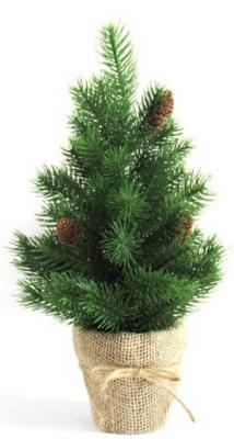 Ель Новогодняя сказка Декоративная елочка с шишками зеленый 40.5 см