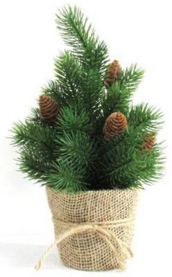 Ель Новогодняя сказка Декоративная елочка с шишками зеленый 30.5 см