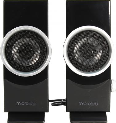 Колонки Microlab B562USB 2х3 Вт черный серебристый