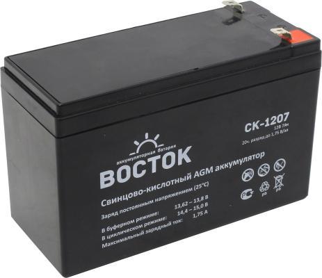 Батарея Восток СК 1207 12V 7.2Ah аккумуляторная батарея восток ск 1209 12v9ah