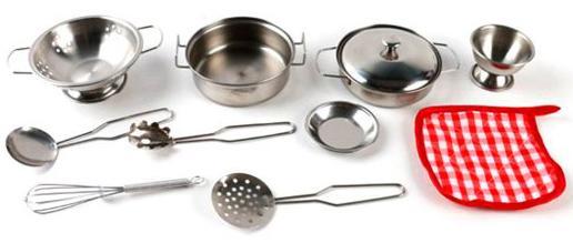 Набор посуды Shantou Gepai 8628-10 металлическая 11 предметов