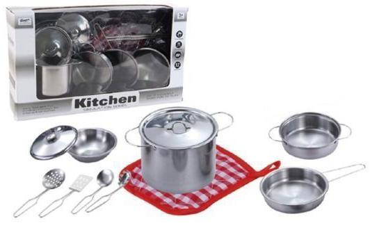"""Набор посуды Shantou Gepai """"Будущий повар"""" металлическая стоимость"""
